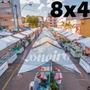 Lona 300 América Branca Impermeável P/ Barraca De Feira 8x4