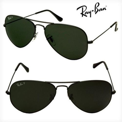 5af3eb68632f5 Ray-ban Aviador Rb3025 Preto Verde G15 Original Frete Grátis - R  219