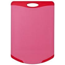 Tábua De Corte Flutto Vermelha Com Canto Redondo 368x254mm