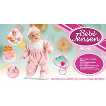 Boneca Bebe Jensen Check-me Com Kit Médico Roupa Rosa 5433