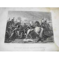 Antiguo Grabado De Napoleón En Campaña