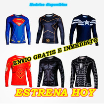 Camiseta Super Héroes Marvel Lycra, Jersey, Playera Superman