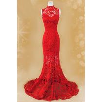Colorido: Vestido De Noiva Em Renda Nobre Várias Cores Longo