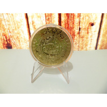 Moneda Calendario Azteca Bañada En Oro 24k