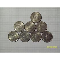 Estados Unidos Lote 8 Monedas De 1/4 Dólar Conmemorativo