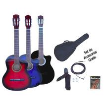 Guitarra Criolla Electroacustica Nylon C/ Corte + Acc Regalo