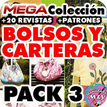 Mega Colección Nro3 Revistas Patrones Moldes Bolsos Carteras