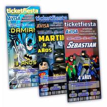 Invitaciones Imprimibles Diseño Batman