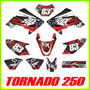 Calcas Honda Tornado 250, Tuning, Fox Stickers, Adhesivos