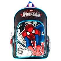 Mochila Spiderman Hombre Araña Original Colegial Primaria