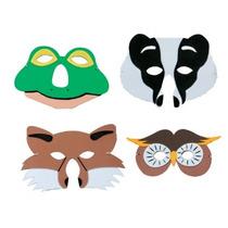 Máscaras De Animales De Espuma Para Niños Fauna Británica