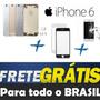 Carcaça Aro Iphone 6 Chassi4.7 Tampa Traseira + Vidro + Pelí
