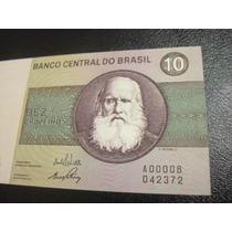 C 137 - Rara Cédula De Dez Cruzeiros De 1970 Numeração Baixa