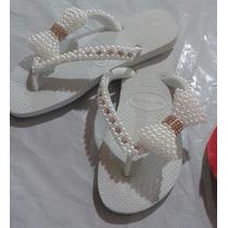 Sandalias Havaianas Bordadas Decoradas Artesanalmente