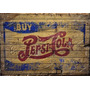 Placa Vintage King Mdf 39x27cm Pepsi Cola Old Wood Bc.03714
