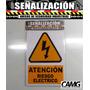 Aviso Peligro Riesgo Electrico Inflamable Montacarga Crvd