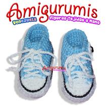 Escarpines Zapatos Converse Niña Niño Bebe Tejido Crochet