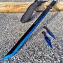 Ninjato Con Filo Acero 440 Hoja Full Tang Con 2 Kunais Func