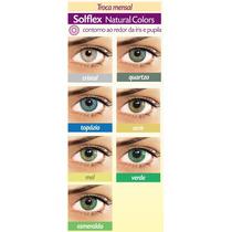 Lentes De Contato Solflex Colorida Solótica - Verde, Mel E +