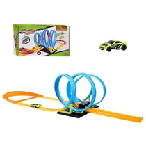 Super Pista 4 Looping 360º C/ Carrinho Tipo Hot Wheels