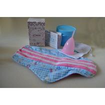 Copa Menstrual Icare Talla 1+ Esterilizador + Toalla Tela