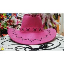 Sombrero Vaquero Cowboy Rosa - Edición Limitada - Excelente!