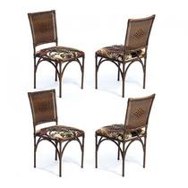 Cadeira Decorativa 4 Peças Em Aço Mobile