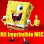Kit Imprimible Bob Esponja Tarjeta Invitacion Candy 2015 2x1