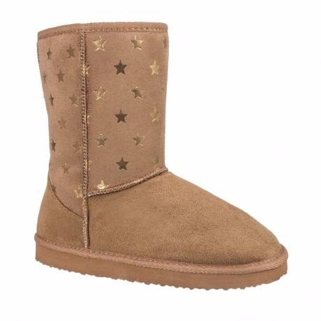 08cc4f9259482 Pantufla Bota 154313 Camel Estrellas -   550.00 en Mercado Libre