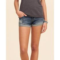 Roupa Feminino Hollister Shorts Bermuda Moletom Jeans