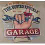Placa Decorativa Mdf Loja Artigos Carros Busted Knuckle Eua