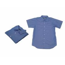 Elegante Camisa Manga Corta 7bot Polvo Moda Masculina Actual