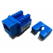 Jack Rj45 Cat 6 Azul Utp Cat6 Conector Hembra Red