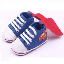 Zapatos Para Niños Bebé Superman - 0 A 18 Meses