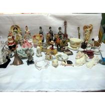 Coleccion De 40 Piezas Figuras De Porcelana Y Cristal Lote
