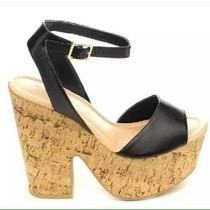 Sandalias Plataformas Tacon Corcho Mujer Moda Calzado Famada