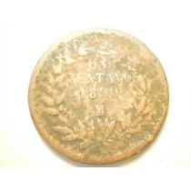 Republica Mexicana Un Centavo Fecha 1890 Ceca Mo Cobre