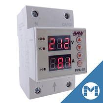 Protector Tension Mono 25a Digital Riel Din Volt Amper Baw