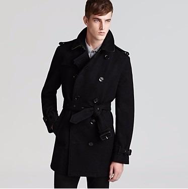9c49b5e0a Sobretudo Importado Masculino Trench Coat Elegante Em Lã - R  239