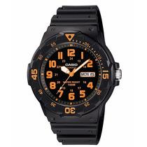 Relógio Casio Mergulho Mrw-200 H-4b Calendário Wr-100 Metros