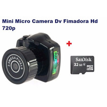 Mini Micro Camera Dv Fimadora Hd 720p+ 32gb Classe 4