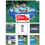 Piscina Intex 6503 L Filtro 220v Capa Forro Kit De Limpeza