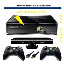 Xbox 360 Slim 4gb + Hd 500, 100 Jogos + Kinect +frete Gratis