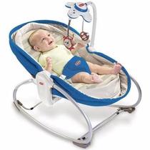 Cadeira Balanço Rocker Napper 3 Em 1 Azul Tiny Love Com Nf