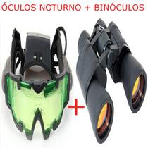 Óculos Visão Noturna Binoculo 90x Camping Caça Pesca Airsoft