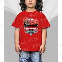 Camiseta Carros Mcqueen Mate Aniversario Infantil Algodão