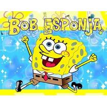 Kit Imprimible Bob Esponja, Invitaciones Y Cajitas