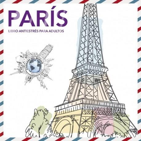 Libro De Adultos Para Colorear Paris (mandala)