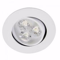 Kit 10 Spot Led 3w Lampada Dicroica Direcionável Branco Frio