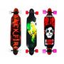 Skate Longboard 105 Cm Truck Blindado Invert Abec 15